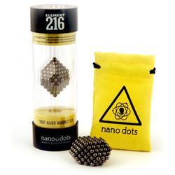 Nanodots 216BLACK - 216 Black Nanodots Magnetic Constructor with Carry Pouch