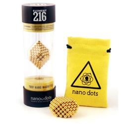 Nanodots 216GOLD - 216 Gold Nanodots Magnetic Constructor with Carry Pouch