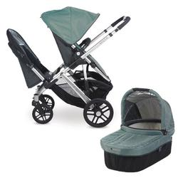 Uppababy 0112 Cln Carlin Vista Double Stroller Kit With Bassinet