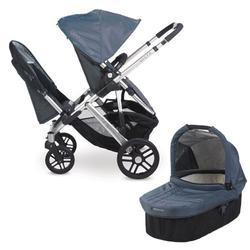 UPPAbaby 0112-COL Cole VISTA Double Stroller Kit with Bassinet - Slate