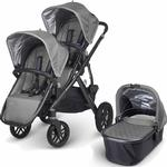UPPAbaby VISTA Double Stroller Kit with Bassinet - Pascal Grey