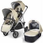 UPPAbaby VISTA Double Stroller Kit with Bassinet -  Lindsey  Wheat