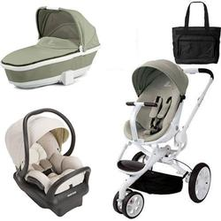 Quinny - Moodd Stroller Travel System and Dreami Bassinet in Natural Bright with Diaper Bag