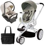 Quinny - Moodd Stroller Travel System with Diaper Bag and Car Seat - Natural Bright