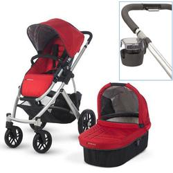 UPPAbaby 0112-DNY Denny VISTA Stroller With Cup holder - Red