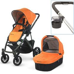 UPPAbaby 0112-DRW Drew VISTA Stroller With Cup holder - Tangerine (Graphite Frame)