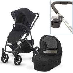 UPPAbaby 0112-JKE Jake VISTA Stroller With Cup holder - Black (Graphite Frame)