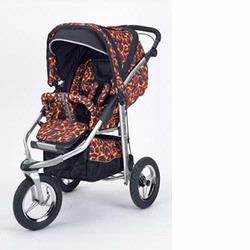 Baby Bling BBFR Metamorphosis Jogging Stroller, Fire Tip Red