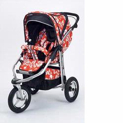 Baby Bling BBMR Metamorphosis Jogging Stroller, Mariposa Red