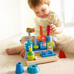Haba 2425 Plug and Stack Master builder, big