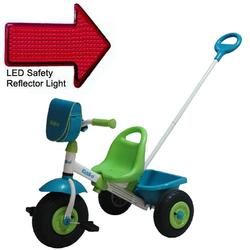 Kettler 8852-800, Kiddi-o Air Tire Swift Tricycle with Pushbar and LED Reflector Light