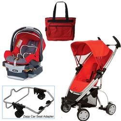 Quinny Rebel Red Zapp Xtra Travel System w/Chicco Fuego Car Seat & Bag