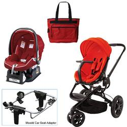 Quinny Red Envy Moodd Travel System w/Peg Perego Geranium Red Car Seat & Bag