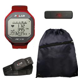 Polar RCX5 90042054, RCX5 - Basic in Red With Cinch Bag