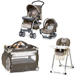Chicco Chevron Kit Stroller System, High Chair and Play Yard Combo - Chevron
