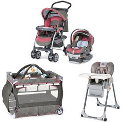 Chicco Foxy Kit Matching Stroller System, High Chair and Play Yard Combo - Foxy