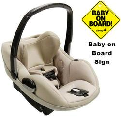 Maxi-Cosi IC090BIM Prezi Infant Car Seat w/Baby on Board Sign - Delightfully Natural