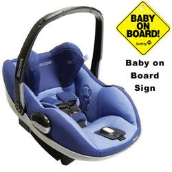 Maxi-Cosi IC090BIV Prezi Infant Car Seat w/Baby on Board Sign - Reliant Blue
