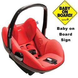 Maxi-Cosi IC090BIY Prezi Infant Car Seat w/Baby on Board Sign - Envious Red