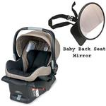 Britax E9LE53F - B-Safe Infant Car Seat in Sandstone w/Back Seat Mirror