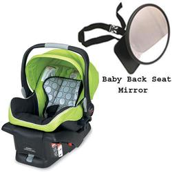 Britax E9LE53G - B-Safe Infant Car Seat in Kiwi w/Back Seat Mirror