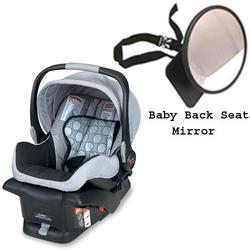 Britax E9LE53H - B-Safe Infant Car Seat in Granite w/Back Seat Mirror