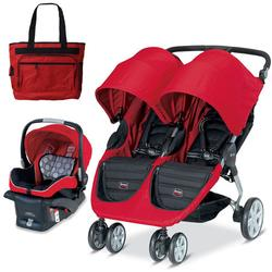 Britax U471818 - B-Agile Double with matching car seat and diaper bag in Red