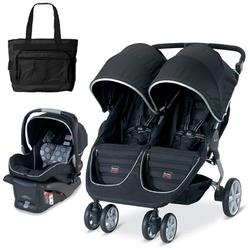 Britax U471819 - B-Agile Double with matching car seat and diaper bag in Black