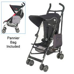 Maclaren WDN01022, Volo Stroller with Pannier Bag - Black