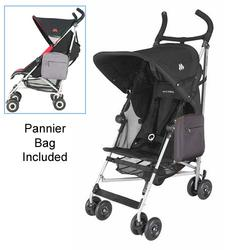 Maclaren WDN11022, Globetrotter Stroller with Pannier Bag - Black