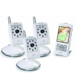 Summer Infant 28290 Sleek&Secure MultiView Handheld Color Video Monitor Set with 3 cameras