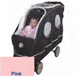 Warm As A Lamb Tandem Stroller Cover, Pink