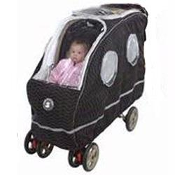 Warm As A Lamb Tandem Stroller Cover, Black