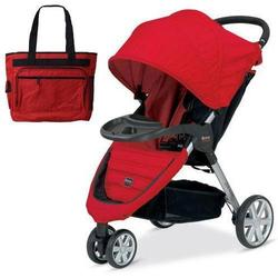 Britax U341783 - B-Agile with Child Tray and Diaper Bag in Red