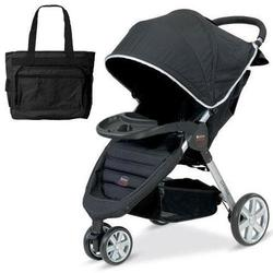Britax U341782 - B-Agile with Child Tray and Diaper Bag in Black