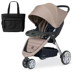 Britax U341763 - B-Agile with Child Tray and Diaper Bag in Sandstone