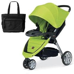 Britax U341764 - B-Agile with Child Tray and Diaper Bag in Kiwi