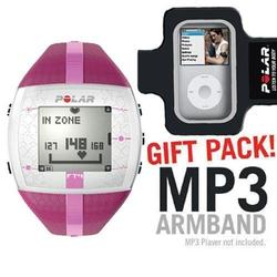 Polar FT4F 90042864 training computer purple pink with MP3 Armband