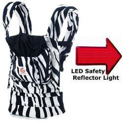 Ergo Baby BCZEB001NL, Zebra Baby Carrier with LED Safety Reflector Light