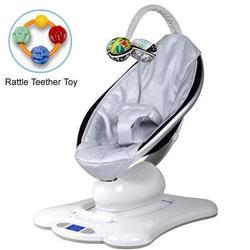 4moms mamaRoo 005000201 Rocker Bouncer Classic in Silver with Rattle Teether Toy