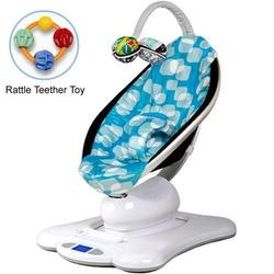 4moms MamaRoo 005001301 Rocker Bouncer Plush in Blue with Rattle Teether Toy