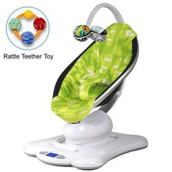 4moms MamaRoo 005001601 Rocker Bouncer Plush in Green with Rattle Teether Toy