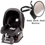 Peg Perego Primo Viaggio sip 30/30 Car Seat w/ Back Seat Mirror - Licorice