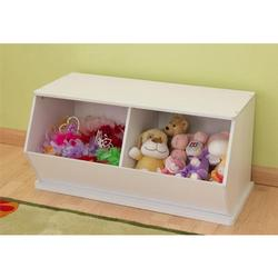 KidKraft 14178, Double Storage Unit - White