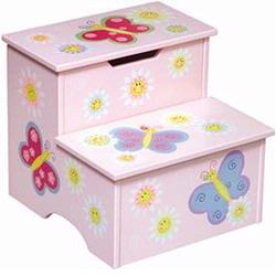 Guidecraft 83366 Butterfly Storage Step Up Stool