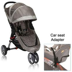Baby Jogger BJ11257 City Mini Single in Sand/Stone with Car Seat Adapter