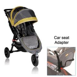 Baby Jogger BJ15244 City Mini GT Single in Shadow/Bamboo with Car Seat Adapter