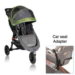 Baby Jogger City Mini GT Single with Car Seat Adapter - Shadow/Green