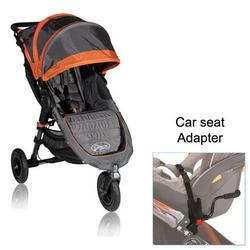 Baby Jogger BJ15239 City Mini GT Single in Shadow/Orange with Car Seat Adapter
