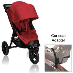 Baby Jogger BJ13230 City Elite Single in Red with Car Seat Adapter